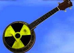 Banjolele with Nuclear Radiation Skin. Image © Stan Tunstall-Otterburn and Dream Images