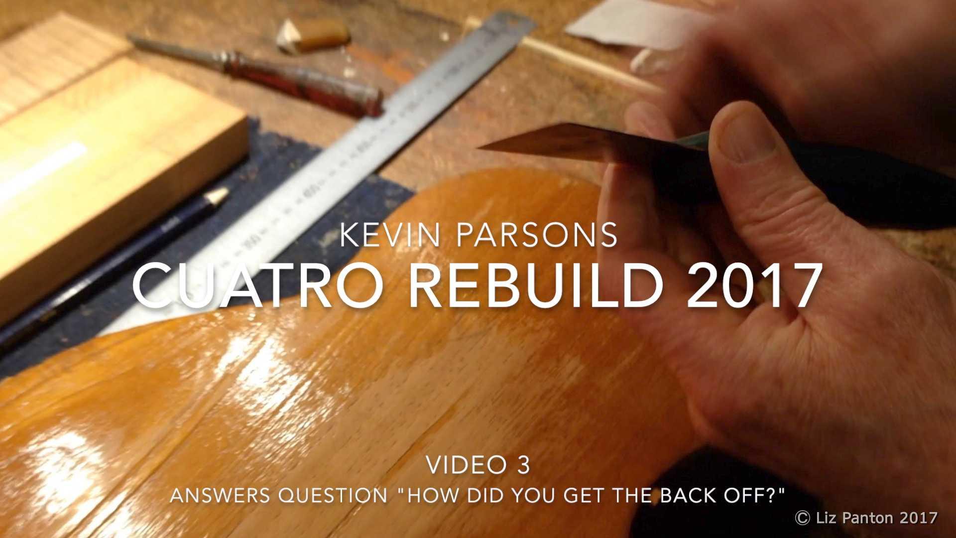 Venezuelan Cuatro Rebuild by Kevin Parsons – Part 3