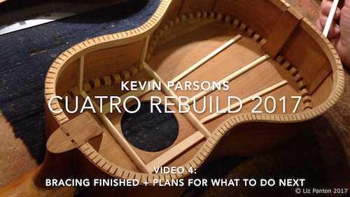 Venezuelan Cuatro Rebuild by Kevin Parsons – Part 4