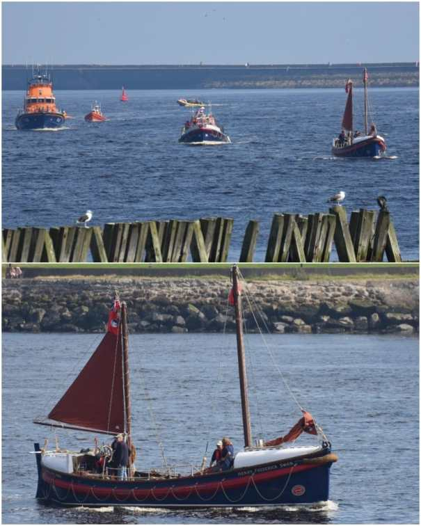 2019-08-24 Flotilla + Henry Frederick Swan from Old Low Light - Crossing The Tyne 2019 collage optim