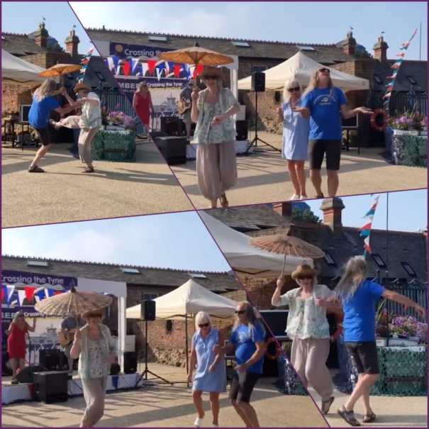 2019-08-26 Old Low Light - Crossing The Tyne Festival - Dancing Liz + Ray collage optim